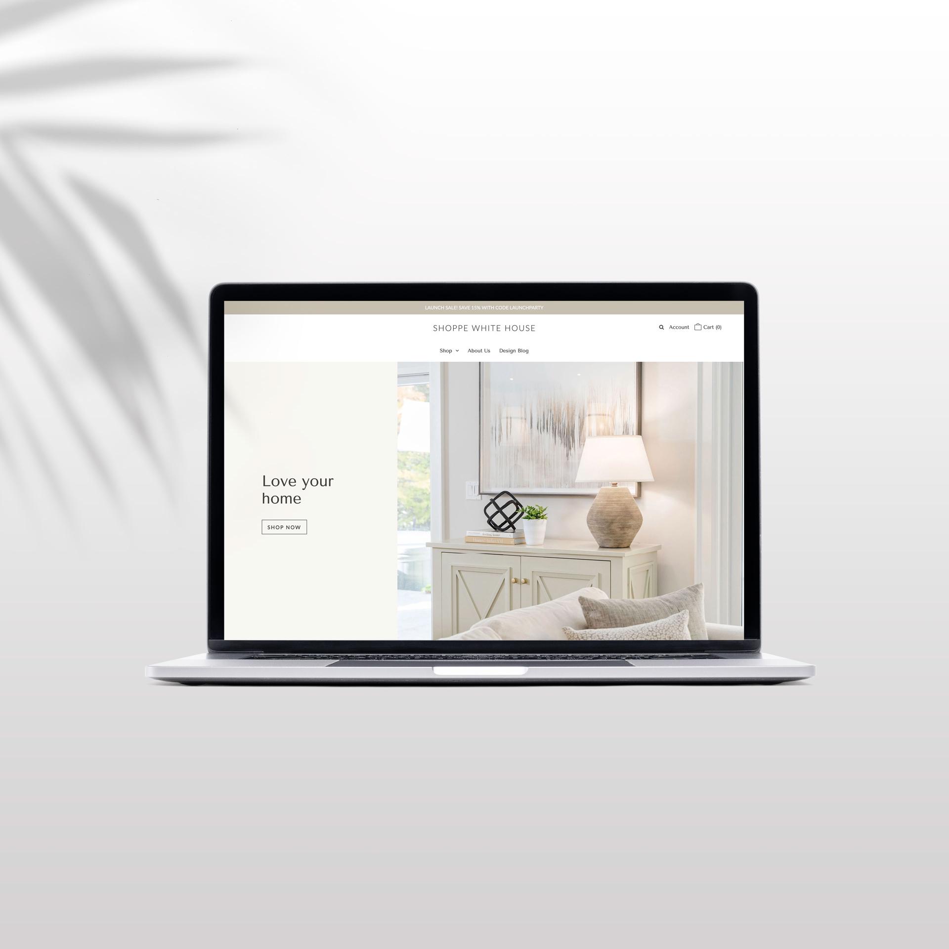 a shopify website design