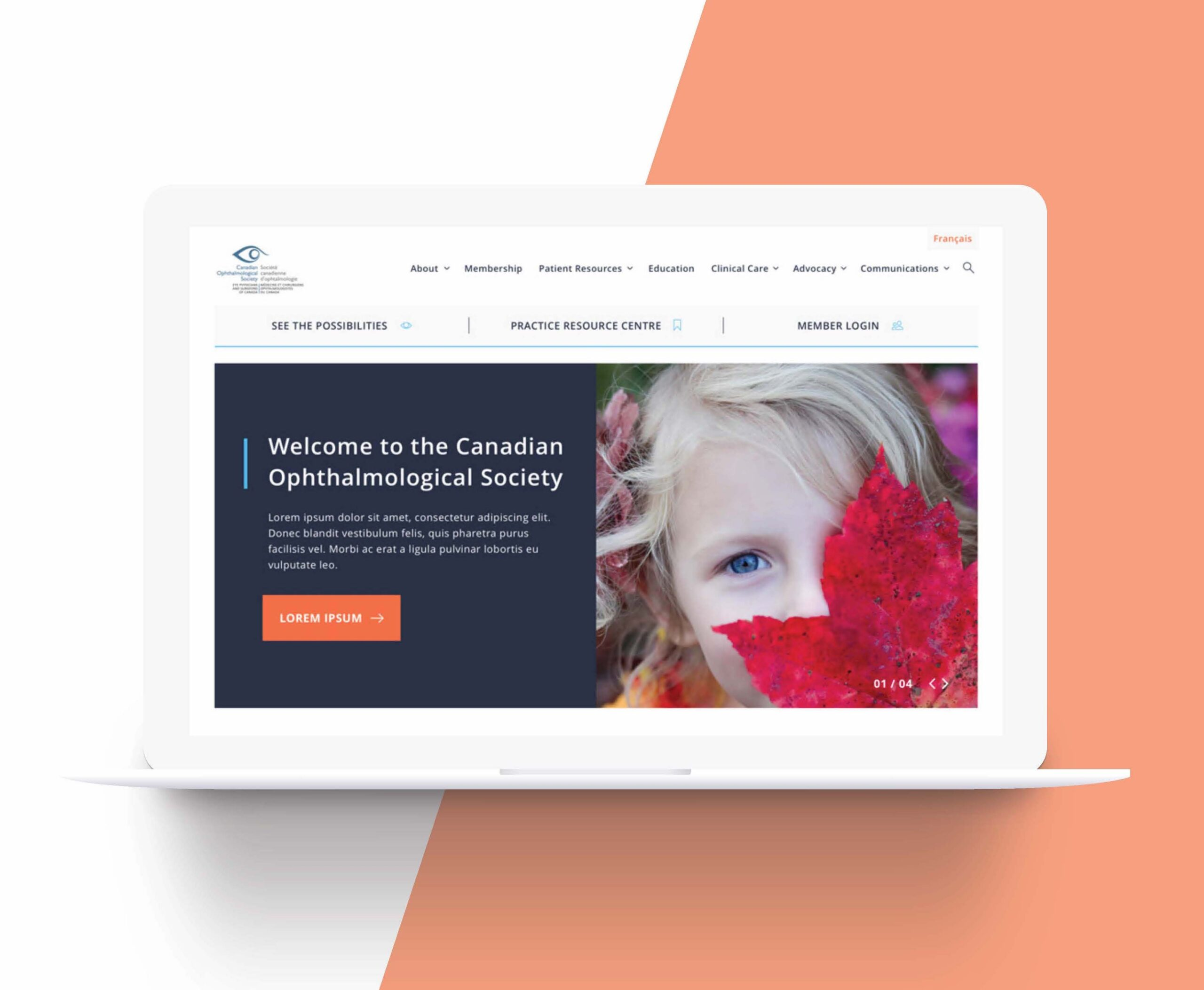 Canadian opthalmological Society website design